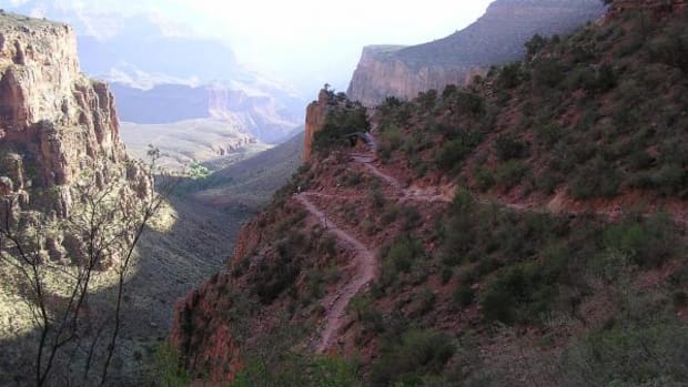 Indian Garden and three-mile rest house can be seen from Bright Angel Trail in Grand Canyon National Park. (Wikipedia)