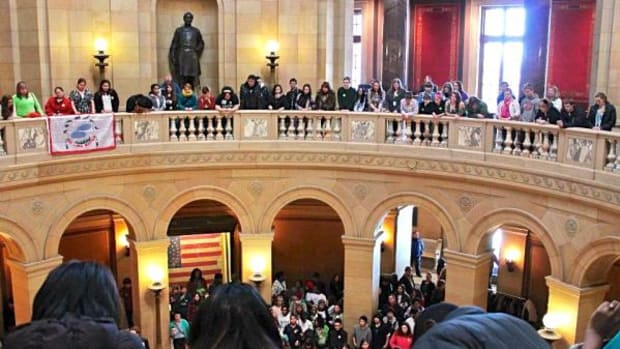 The Red Lake Nation Youth Council visited the Capitol in St. Paul, Minnesota on March 13.