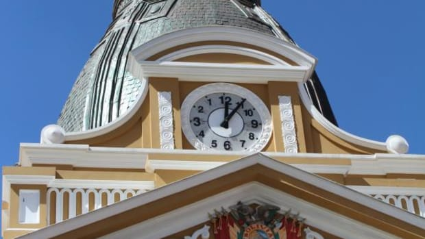 In Bolivia, led by indigenous President Evo Morales, the clock on the congress building runs backward. But 3-D Indian time leaves the clock behind entirely.