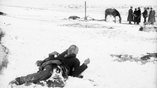 Chief Spotted Elk lies dead in the snow following the Wounded Knee Massacre on December 29, 1890. For hundreds of years, marginalized people in the United States have been victims of mass shootings simply because they were different.