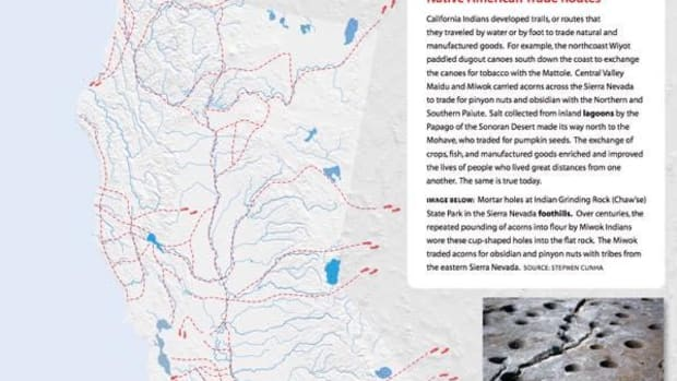 Many of today's thoroughfares in California started out as indigenous pathways.