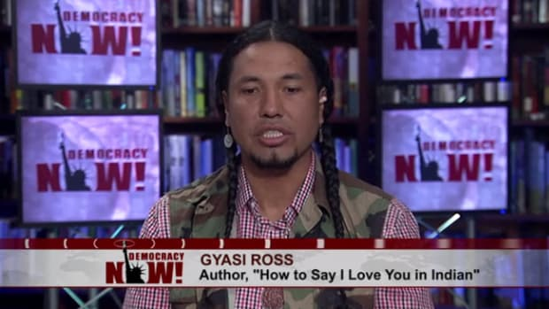 ICTMN Editor-At-Large Gyasi Ross appears on Democracy Now! with Amy Goodman.