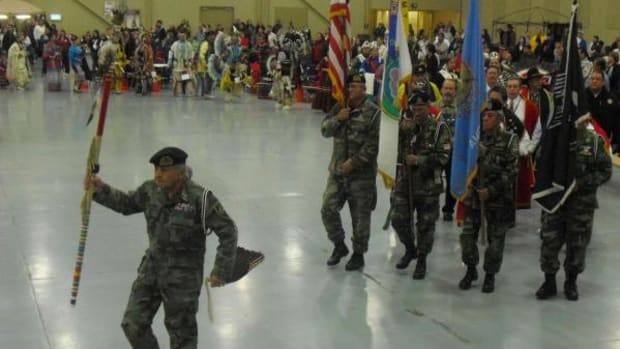 Tulsa veterans at a previous New Year's Eve Sobriety Powwow in Oklahoma.