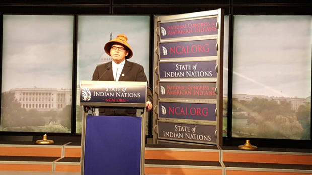 NCAI president Brain Cladoosby State of Indian Nations address 2017