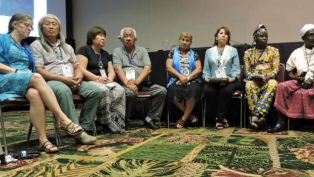 Indigenous leaders from all over the world together at the International Union for The Conservation of Nation World Conservation Congress in Honolulu, Hawaii.