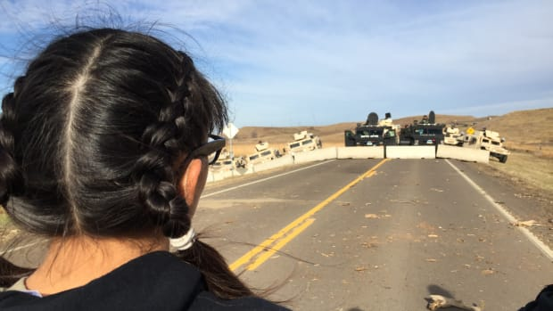 Water protectors at Standing Rock Sioux protests