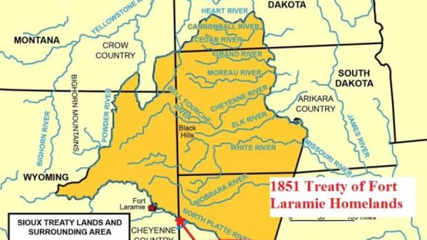 Lands guaranteed to Native nations in perpetuity in the 1851 Treaty of Fort Laramie