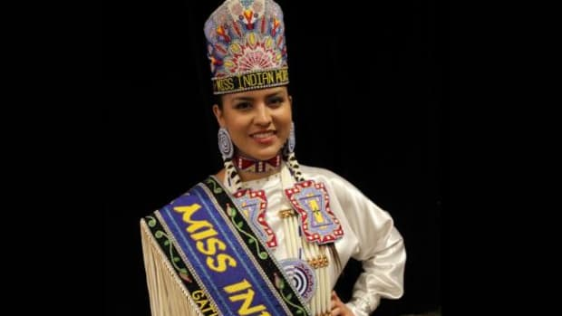 She hugged Michelle Obama: The reigning Miss Indian World is Cheyenne Dae Brady, a citizen of the Sac and Fox Nation of Oklahoma