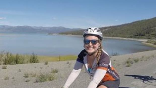Sierra Welch, a Chickasaw and University of Texas senior, is shown somewhere in Canada during 2014's Texas 4000 ride from Austin to Anchorage. More than $608,000 was raised in the fight against cancer. Ms. Welch will join efforts Oct. 18 to raise scholarship funds for the Chickasaw Foundation.