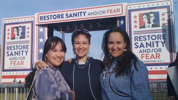 The triplets came to D.C. for the Rally to Restore Sanity And/Or Fear in 2010. (Courtesy ArXotica)