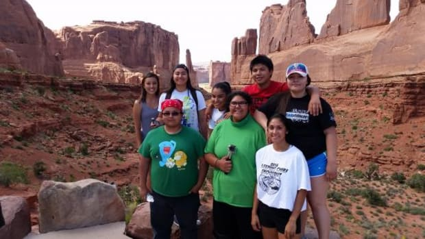 Six students from the Nez Perce Reservation traveled to Moab, Utah to learn about sustainable building, and bring that knowledge home. It wasn't all work, the students did get to stop at Arches National Park.