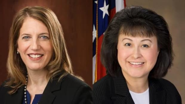 Secretary of HHS Sylvia Mathews Burwell, left, wants everyone to know that she fully supports the re-nomination of Dr. Yvette Roubideaux as director of IHS.