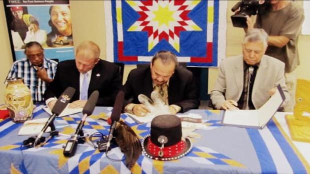 On July 17, Tribal Wi-Chi-Way-Win Capital Corp board of directors signed a Memorandum of Understanding with indigenous investors from the United States, New Zealand and Canada to pursue a range of Indigenous economic empowerment projects, including a chartered bank to better serve the growing financial needs of Canada's Indigenous economy. (Courtesy TWCC)