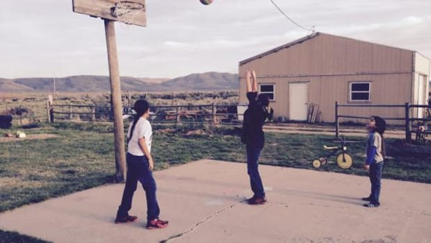 Boys play basketball on the Duck Valley Indian Reservation in Nevada. On or off the basketball court, when the youth win, we all win, says ICTMN columnist Sarah Sunshine Manning.