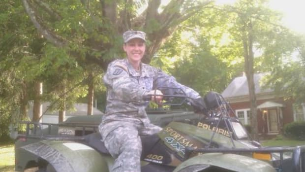 Tasha DeBlois, a 20-year-old military veteran was recently named commander of the Fitchburg, Massachusetts Veterans of Foreign Wars Branch. She was recently in Monson, Massachusetts on active duty as a National Guard Military Police following the tornadoes that swept through the area.