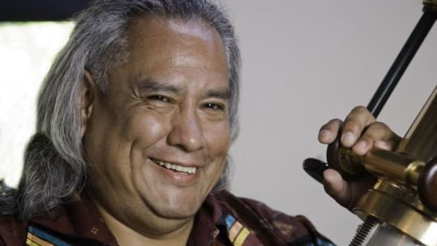 Native American astronomer Dennis Lamenti hopes to recruit more Native American students into the field of astronomy.