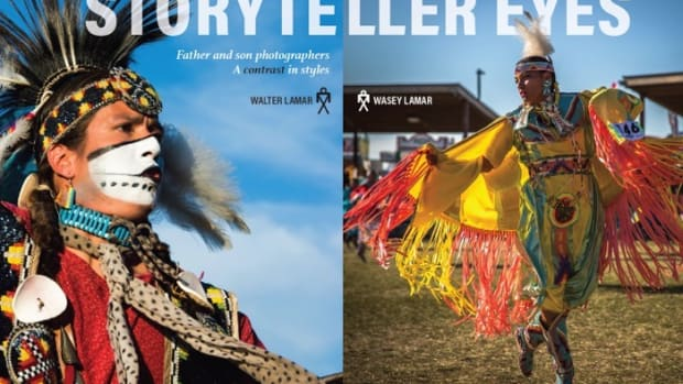 Walter Lamar, Wasey Lamar, Storyteller Eyes, father and son photographers, Indian Country Magazine issue #3, feature