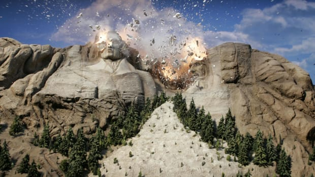 The Thing About Skins, responding to the sentiment of 'Blowing up Mt. Rushmore.' Wilbert Cooper (an editor at Vice.com) wrote an article entitled Let's Blow Up Mt. Rushmore, as a response to the notion of tearing down racist monuments. Paramount Pictures