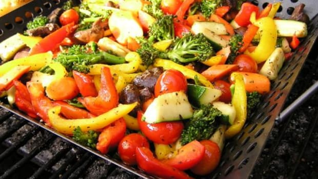 Just about any kind of vegetable can be thrown on the grill in a grill pan.