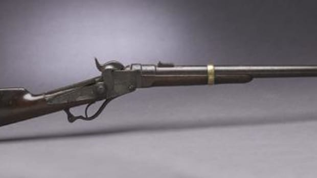 This Starr carbine issued to Jordan J. Brown likely was used at the Sand Creek Massacre in 1864.