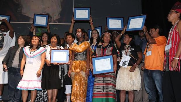 Winners of the Equator Prize, which rewards heroic indigenous initiatives that mitigate climate change and create thriving environments.