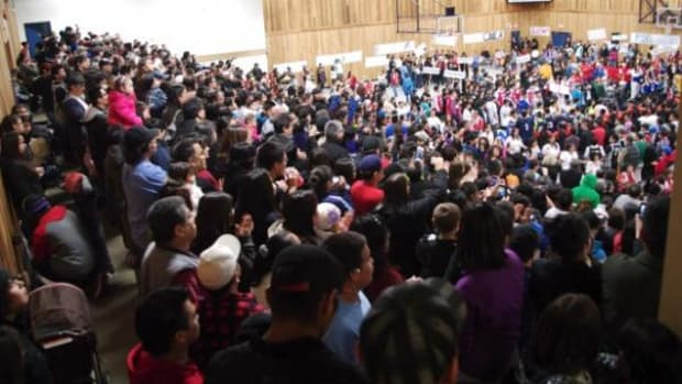 More than 2,000 people packed the Alberni Athletic Hall on Sunday afternoon for the grand opening of the B.C. Junior all Native Basketball Tournament in Port Alberni.