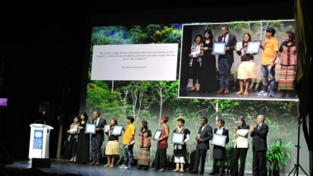 From Colombia, the Wuasikamas from the Inga Nation were recognized for the recovery of 55,062 acres (22,283 hectares) of ancestral territory through an agreement with the government of Colombia that funded the Inga's effort to expel armed guerrillas, paramilitaries and drug traffickers.