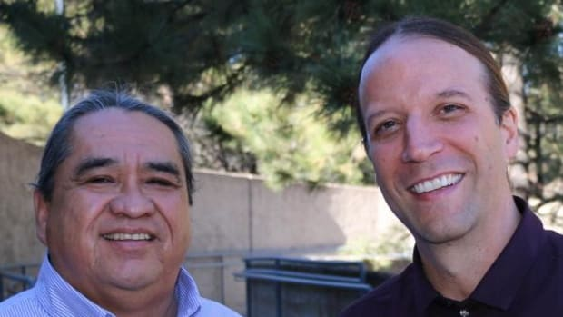 Manley Begay (left) and Chad Hamill of the Department of Applied Indigenous Studies have formed a Native Nation Building initiative including a graduate certificate for tribal leaders. The curriculum will offer specialized training for individuals working in tribal governments with an emphasis on creating economic sustainability.