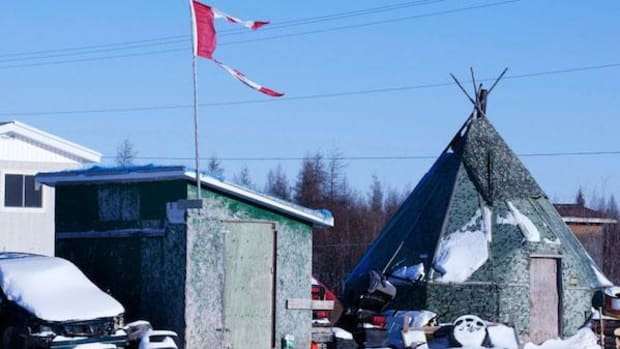 More than 100 people have tried to kill themselves, some as young as 10, in Attawapiskat First Nation in northern Ontario since last September—11 of them on April 9. Above, the reserve in 2011.