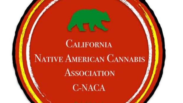 The logo of the newly formed California Native American Cannabis Association, which seeks consultation with the governor on cultivation.