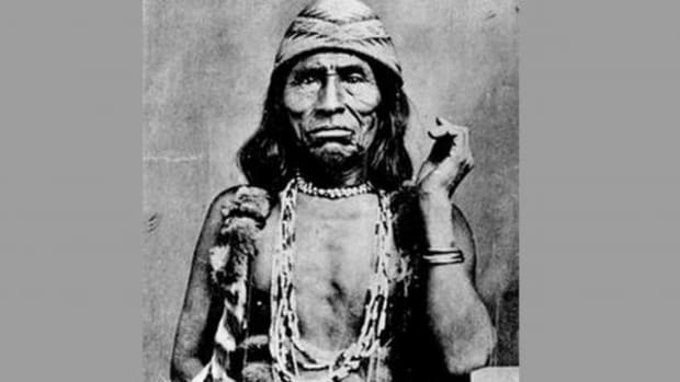 Old Doctor was a Tolowa spiritual leader who dressed in both male and female garments and jewelry.