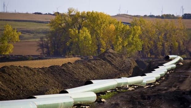 Portions of the Keystone XL pipeline awaiting construction.