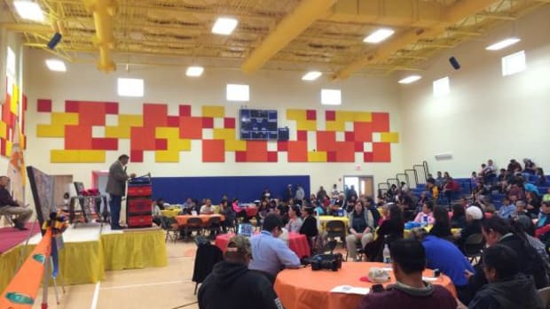 Navajo Nation President Ben Shelly attended the grand opening of the Shiprock Youth Center and snipped the ribbon to officially open the spacious facility to the general public.