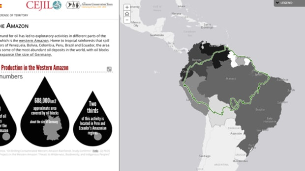 Interactive Digital Story Map detailing the theft of indigenous land for the purpose of oil