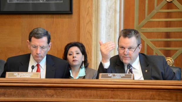 SCIA Chairman John Barrasso (R-WY) and vice chairman Jon Tester (D-MO) both introduced a Carcieri fix, with Tester later pulling his in support of Barrasso's.