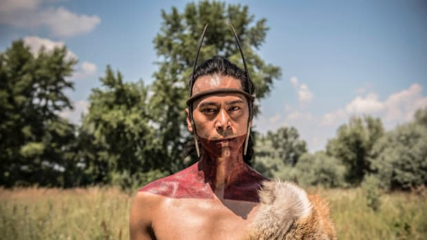 Kalani Queypo portrays the Pamunkey-speaking warrior Chacrow in the period-drama series 'Jamestown.'