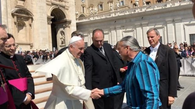 Pope Francis and Steven Newcomb at the Vatican