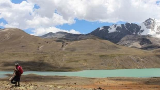 The melt-off from Andean glaciers supplies El Alto with water.