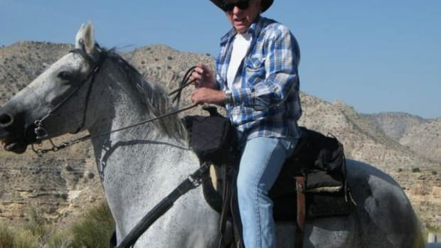Dr. Ken Jackson, saddled and ready for another trip to Supai Village