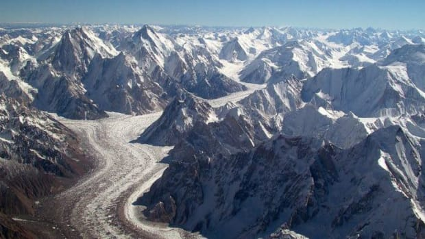 Glaciers are at risk even among the high Himalayan peaks of the Karakoram range in Pakistan.