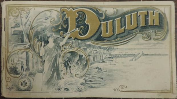 """A small 1901 """"Duluth"""" guide, definitely a product of its time, told tourists how to find """"Indians""""—mainly by heading far out of the city that was the original site of thriving Ojibwe commerce and community."""