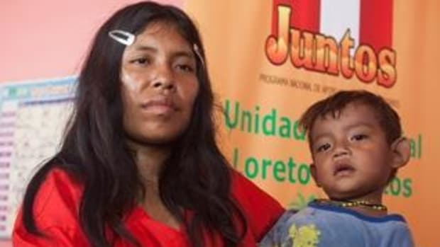 """Juntos, Spanish for """"together,"""" is a new incentive program introduced by the Peruvian government to help keep indigenous children in school within some of the country's economically poorest areas."""