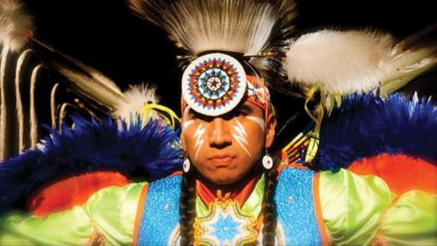 Larry Yazzie is the arena director at the University of Iowa Pow Wow April 13-14.