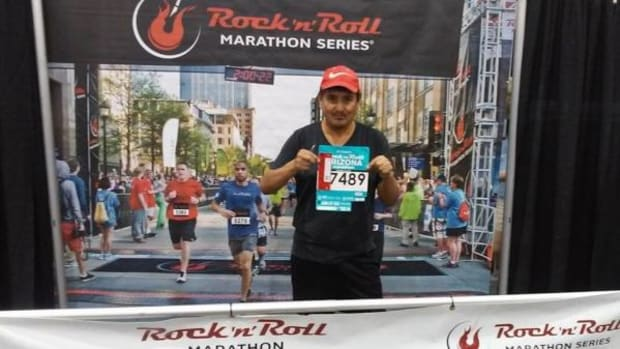 Isadore Boni, AIDS survivor, ran the 12th annual P.F. Chang's Rock `n' Roll Arizona Marathon on January 18, 2015.