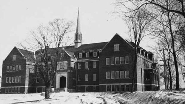 One of the hundreds of residential schools that dotted the landscape of Canada and tore apart indigenous families.