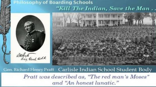 Captain Richard Pratt designed boarding schools to transform the Indian into the white man's image. His first was Carlisle Indian Industrial School in Carlisle, Pennsylvania.