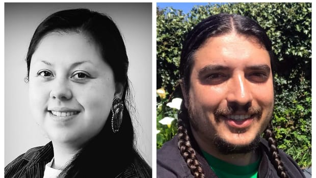Two Native Green Party candidates: Aaron E. Camacho, Potawatomi, (left) is running for Wisconsin State Senate District 31. Erik Rydberg, Pomo, (right) is running for Secretary of State in California.