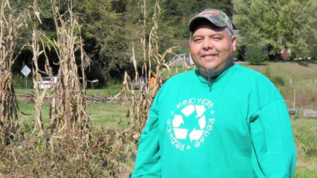 Kevin Welch is helping Eastern Band of Cherokee growers save heirloom vegetables from extinction. (Courtesy Eastern Band of Cherokee Indians Cooperative Extension)