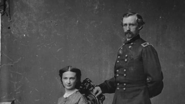 George Armstrong Custer and Elizabeth Bacon Custer-Brady-Handy