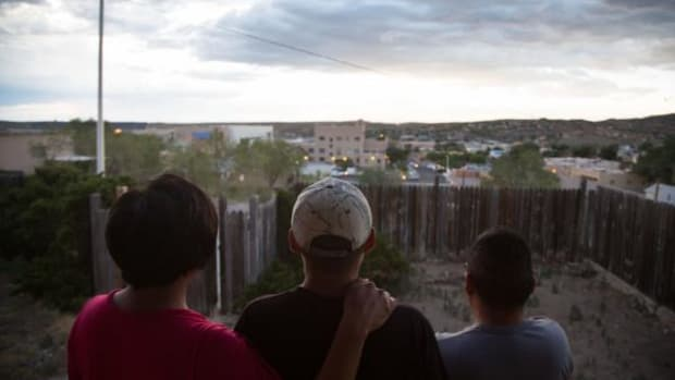 From left to right: Stella Martin, Raymond Martin, and Jeremy Yazzie call Gallup, N.M. home. But they feel their daily struggles go unheard by both their own people in the Navajo Nation and city officials.